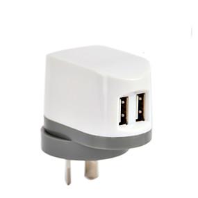 tanie Akcesoria do telefonów komórkowych-Ładowarka domowa / Przenośna ładowarka Ładowarka USB Wtyczka AU Wieloportowa 2 porty USB 2.4 A na