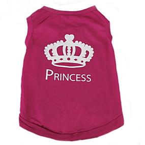 cheap Pet Supplies-Cat Dog Shirt / T-Shirt Dog Clothes Tiaras & Crowns Rose Terylene Costume For Spring &  Fall Summer Women's Casual / Daily Fashion
