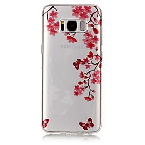 halpa Galaxy S -sarjan kotelot / kuoret-Etui Käyttötarkoitus Samsung Galaxy S8 Plus / S8 IMD / Läpinäkyvä / Kuvio Takakuori Perhonen Pehmeä TPU varten S8 Plus / S8 / S7 edge