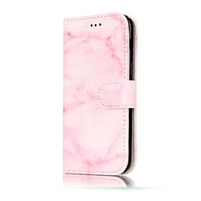 voordelige Galaxy A5(2016) Hoesjes / covers-hoesje Voor Samsung Galaxy A3 (2017) / A5 (2017) / A5(2016) Portemonnee / Kaarthouder / met standaard Volledig hoesje Marmer Hard PU-nahka