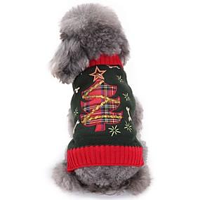 Χαμηλού Κόστους Χριστουγεννιάτικα κοστούμια για κατοικ-Γάτα Σκύλος Πουλόβερ Ρούχα για σκύλους Άνθινο / Βοτανικό Γκρίζο Ακρυλικές Ίνες Στολές Για Χειμώνας Ανδρικά Γυναικεία Μοντέρνα Χριστούγεννα