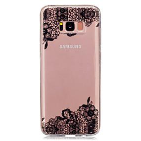 Недорогие Чехлы и кейсы для Galaxy S5 Mini-Кейс для Назначение SSamsung Galaxy S8 Plus / S8 / S5 Mini Прозрачный / С узором Кейс на заднюю панель Кружева Печать Мягкий ТПУ