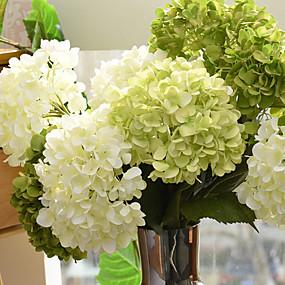preiswerte Künstliche Blumen-Künstliche Blumen 1 Ast Europäischer Stil Hortensie Tisch-Blumen