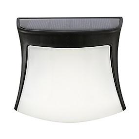 ieftine Becuri Solare LED-0.5 W Proiectoare LED Rezistent la apă / Reîncărcabil / Ușor de Instalat Alb Cald / Alb Rece / Alb Natural Lumina Exterior 3 LED-uri de margele