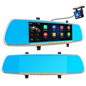 זול Araba DVR-A33 1080p / Full HD 1920 x 1080 גלאי תנועה / 1080p / HD מלא רכב DVR 170 מעלות זווית רחבה 7 אִינְטשׁ IPS דש קאם עם WIFI / GPS / ראיית לילה No רכב מקליט / G-Sensor / Motion Detection / הקלטה בלופ