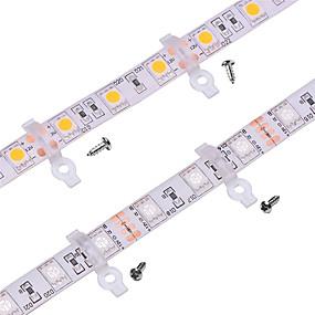 Недорогие Коннекторы-100 pack -strip светлый монтажный кронштейн для наружного силиконового покрытия 10 мм широкоформатный водонепроницаемый smd5050 светодиодные полосы