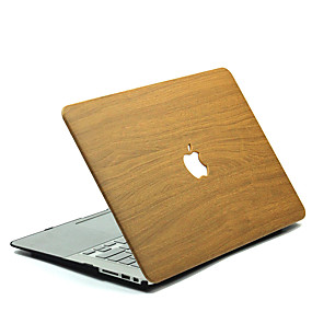 abordables Accessoires de MacBook-MacBook Etuis Apparence Bois Polycarbonate pour MacBook 12'' / MacBook 13'' / MacBook Air 11''