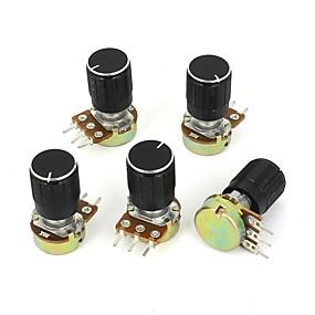 billige Forbrugerelektronik-5 stk. 5 k ohm lineært konisk drejepotentiometer b5k