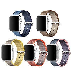 abordables Marques Premium-Bracelet de Montre  pour Apple Watch Series 4/3/2/1 Apple Boucle Classique Nylon Sangle de Poignet