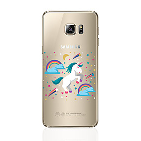 voordelige Galaxy S7 Edge Hoesjes / covers-hoesje Voor Samsung Galaxy S8 Plus / S8 / S7 edge Transparant / Patroon Achterkant Eenhoorn Zacht TPU
