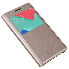 voordelige Galaxy A5(2016) Hoesjes / covers-hoesje Voor Samsung Galaxy A3 (2017) / A5 (2017) / A7 (2017) met venster / Flip Volledig hoesje Effen Hard PU-nahka