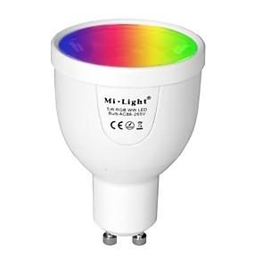 billige Lyspærer til pyntebelysning-brelong 1 stk gu10 12led wifi infrarød sensor dæmpbar lys kop fjernbetjening
