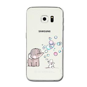 voordelige Galaxy S7 Edge Hoesjes / covers-hoesje Voor Samsung Galaxy S8 Plus / S8 / S7 edge Transparant / Patroon Achterkant Cartoon / Olifant Zacht TPU