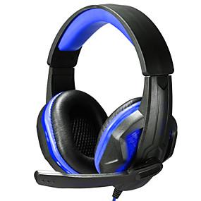 Χαμηλού Κόστους Αξεσουάρ Η/Υ & Tablet-Πάνω από το αυτί / Κεφαλόδεσμος Ενσύρματη Ακουστικά Κεφαλής Πλαστική ύλη Ηλεκτρονικό Παιχνίδι Ακουστικά Με Έλεγχος έντασης ήχου / Με