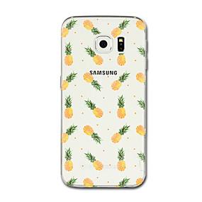 voordelige Galaxy S7 Hoesjes / covers-hoesje Voor Samsung Galaxy S8 Plus / S8 / S7 edge Transparant / Patroon Achterkant Fruit Zacht TPU