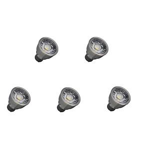 ieftine Spoturi LED-5pcs 5 W Spoturi LED 550 lm GU10 1 LED-uri de margele COB Decorativ Alb Cald Alb Rece 85-265 V / 5 bc