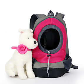 cheap Pet Supplies-Cat Dog Carrier & Travel Backpack Pet Baskets Solid Colored Portable Breathable Green Blue Pink For Pets