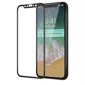 billige Skærmbeskyttelse Til iPhone X-Skærmbeskytter for Apple iPhone X Hærdet Glas 1 stk Skærmbeskyttelse High Definition (HD) / 9H hårdhed / 3D bøjet kant