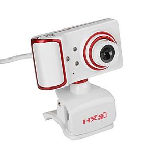 abordables Webcams-webcam usb giratorio ángulo de enfoque cámara pc incorporado micrófono / 3 leds / clip estilo / pantalla hd