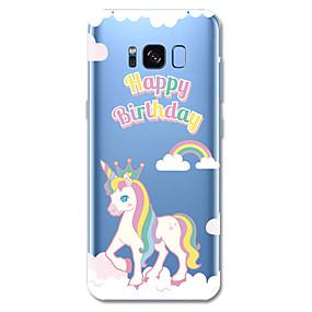 voordelige Galaxy S7 Hoesjes / covers-hoesje Voor Samsung Galaxy S8 Plus / S8 / S7 edge Patroon Achterkant Woord / tekst / Eenhoorn / Cartoon Zacht TPU