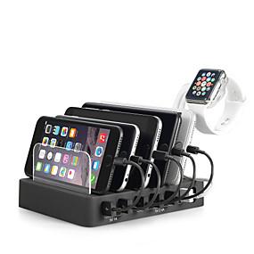 cheap Computer Peripherals-USB Charger Miimall 6 Ports Desk Charger Station Stand Dock US Plug EU Plug UK Plug AU Plug Charging Adapter