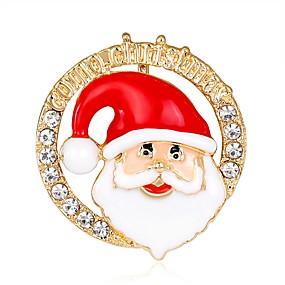 abordables Bijoux de Noël-Homme Femme Broche Plaqué Or Rose dames Mode Broche Bijoux Arc-en-ciel Pour Noël Nouvelle An