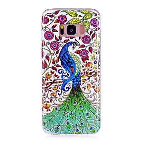 olcso Galaxy S tokok-Case Kompatibilitás Samsung Galaxy S8 Plus / S8 Foszforeszkáló / IMD / Minta Fekete tok Állat Puha TPU mert S8 Plus / S8 / S7 edge