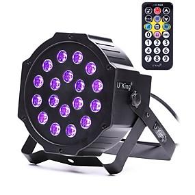 Недорогие Светодиодные театральные лампы-U'King 18 W 18 Светодиодные бусины LED PAR-прожектор Фиолетовый 100-240 V / RoHs / CE / FCC
