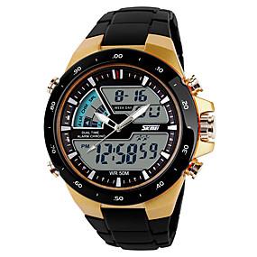 abordables Reloj de hombre más vendido-SKMEI Hombre Reloj Deportivo Reloj Digital Digital Negro Reloj Casual Cool Analógico-Digital Casual - Dorado Negro