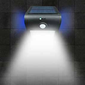 billige Soldrevne LED-lamper-brelong 1 stk 2w ledet menneskekropsensor vandtæt udendørs oversvømmelse hvidt lys gylden / hvid / sølv / sort