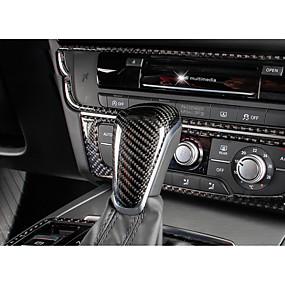 billige Car Shift Knobs-Til Bilen Vehicle Shift Knob Refit(Kulstoffiber)Til Audi 2013 2014 2015 2012 A6