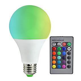 billige Lyspærer til pyntebelysning-1pc 10 W 800 lm E26 / E27 Smart LED-lampe A80 6 LED Perler SMD 5050 Dæmpbar / Fjernstyret / Dekorativ RGBW 85-265 V / RoHs