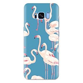 voordelige Galaxy S7 Edge Hoesjes / covers-hoesje Voor Samsung Galaxy S8 Plus / S8 / S7 edge Patroon Achterkant Flamingo / dier Zacht TPU