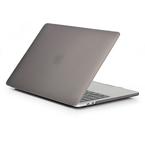 "billige Apple-tilbehør-MacBook Etui Syrematteret Ensfarvet Polycarbonat for Ny MacBook Pro 15"" / Ny MacBook Pro 13"" / MacBook Pro 15-tommer"