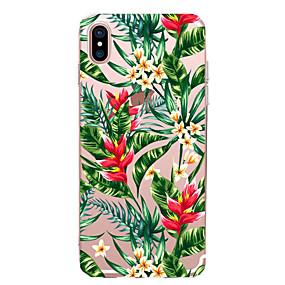 abordables Coques d'iPhone-CaseMe Coque Pour Apple iPhone X / iPhone 8 / iPhone 7 Ultrafine / Motif Coque Fleur Flexible TPU pour iPhone X / iPhone 8 Plus / iPhone 8