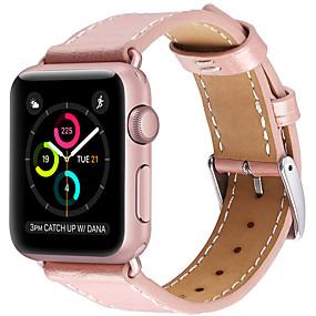 olcso Szűrés mobiltelefon modell szerint-Nézd Band mert Apple Watch sorozat 5/4/3/2/1 Apple Bőr hurok Valódi bőr Csuklópánt