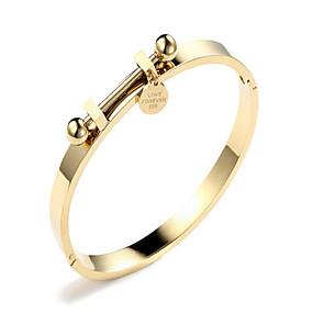 abordables Sélection de l'Editeur-Bracelet Jonc Femme dames Coréen Mode Bracelet Bijoux Dorée Or Rose Forme de Cercle pour Cadeau Quotidien Rendez-vous