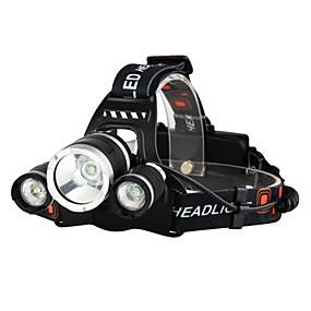 baratos Lanternas & Luminárias-LED Luzes de Bicicleta Lanternas de Cabeça Luzes de Bicicleta Farol para Bicicleta Cree® XM-L T6 Ciclismo Impermeável Resistente ao Impacto Recarregável 18650.0 3000 lm Bateria Campismo / Escursão