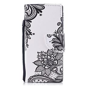 economico Sony-Custodia Per Sony / Sony Xperia XA Xperia XA1 / Xperia E5 A portafoglio / Porta-carte di credito / Con supporto Integrale Fiore decorativo Resistente pelle sintetica per Sony Xperia XZ1 / Sony Xperia