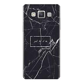 voordelige Galaxy A7(2016) Hoesjes / covers-hoesje Voor Samsung Galaxy A3 (2017) / A5 (2017) / A7 (2017) Patroon Achterkant Woord / tekst / Marmer Zacht TPU