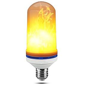 billige Lyspærer til pyntebelysning-1pc 5 W LED-kolbepærer 150 lm E27 99 LED Perler SMD 2835 Dæmpbar Dekorativ Flamme Flimrende Varm hvid 85-265 V / RoHs