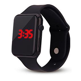 billige kvinners digitale klokker-Dame damer Digital Watch Square Watch Digital Silikon Svart / Hvit / Blå Kronograf Hverdagsklokke Kul Digital Fritid Mote Minimalistisk - Rød Grønn Blå