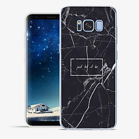 olcso Galaxy S tokok-Case Kompatibilitás Apple / Samsung Galaxy S8 Plus / S8 Minta Fekete tok Szó / bölcselet / Márvány Puha TPU mert S8 Plus / S8 / S7 edge