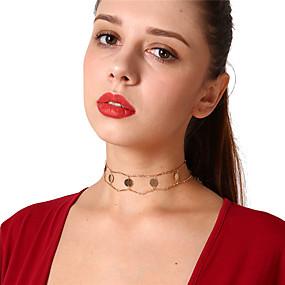 levne Šperky&Hodinky-Dámské Obojkové náhrdelníky Vintage Měď Zlatá Stříbrná Náhrdelníky Šperky Pro Párty Denní