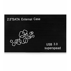 cheap Hard Drive Cases-Hard Drive Enclosure HDD Compatible Slim Line ABS USB 3.0 25HC307