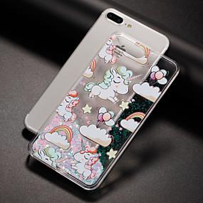 abordables Coques d'iPhone-Coque Pour iPhone 7 / iPhone 7 Plus / iPhone 6s Plus iPhone 7 / iPhone 7 Plus / iPhone 6 Liquide / Motif Coque Licorne Dur PC pour iPhone 7 Plus / iPhone 7 / iPhone 6s Plus
