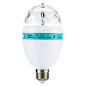 Недорогие Светодиодные театральные лампы-3 W Круглые LED лампы 270 lm E26 / E27 3 Светодиодные бусины Высокомощный LED RGB 85-265 V / # / #