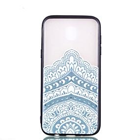voordelige Galaxy J5(2017) Hoesjes / covers-hoesje Voor Samsung Galaxy J7 (2017) / J5 (2017) / J3 (2017) Transparant / Reliëfopdruk / Patroon Achterkant Mandala Hard PC