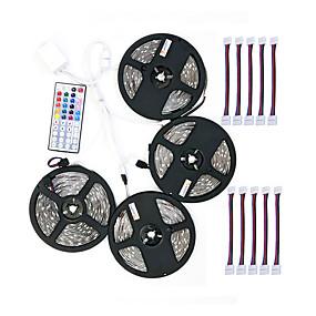 billige LED-stribelys-zdm 4x5m 5050 rgb led strip lys 30ledsmeters 44key ir controller og 1x1 til 4 kabel connnector med 10pcs forbindelseslinje dc12v 140w