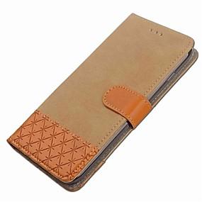 halpa Galaxy S -sarjan kotelot / kuoret-Etui Käyttötarkoitus Samsung Galaxy S8 Plus / S8 Lomapkko / Korttikotelo / Tuella Suojakuori Geometrinen printti Kova tekstiili varten S8 Plus / S8 / S7 edge